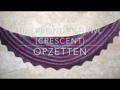 How to knit the shawl in DROPS 168-23 - YouTube