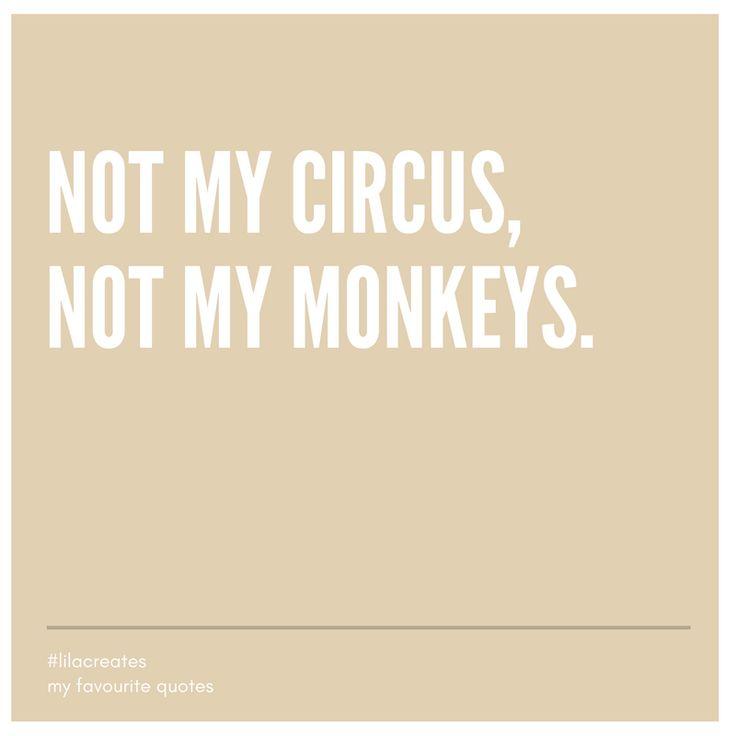 Nicht mein Zirkus nicht meine Affen. Lass mal das Chaos der Anderen deren Sache sein.