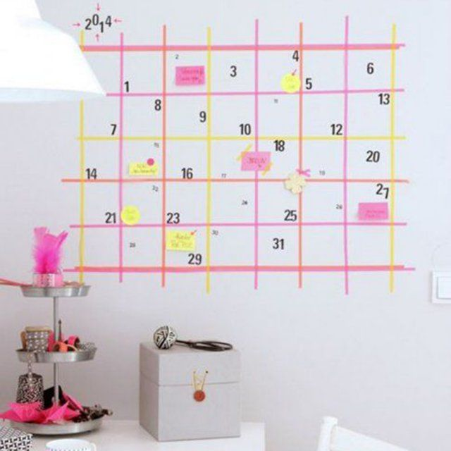 1000 id es propos de calendrier mural sur pinterest - Grand calendrier mural ...