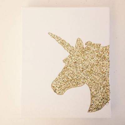 DIY Unicorn Canvas Art