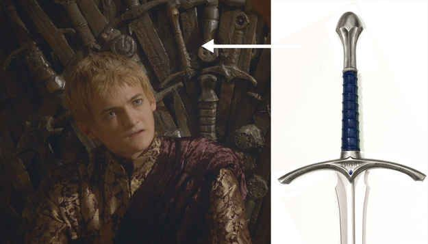 But according to eagle-eyed redditor, NoMoreHodoring , one of the swords in question is Glamdring - Gandalf's sword from Lord Of The Rings .