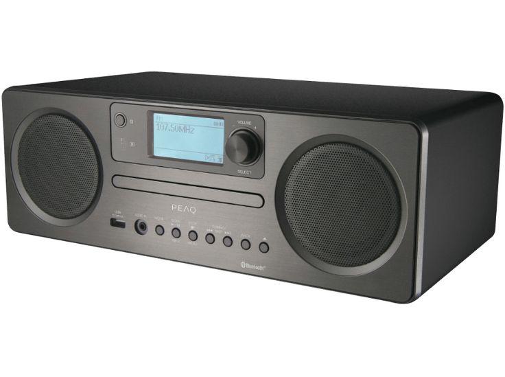 De Peaq PDR 350BT-B is een uitgebreide radio/cd-speler met niet alleen FM-radio, maar ook DAB+, internetradio en ingebouwde Bluetooth.