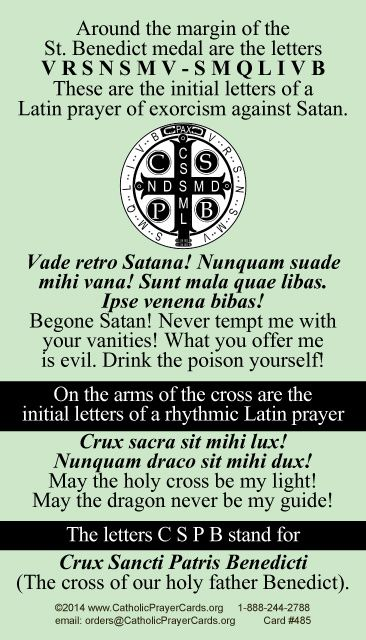 St. Benedict Medal Prayer Card                                                                                                                                                                                 More