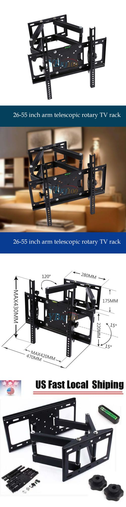 TV Mounts and Brackets: Full Motion Tilt And Swivel Led Lcd Tv Wall Mount Bracket 26 32 37 40 42 50 55 In -> BUY IT NOW ONLY: $31.99 on eBay!