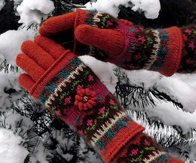 115 best ❅ Knitted Mittens & Gloves ❅ images on Pinterest ...