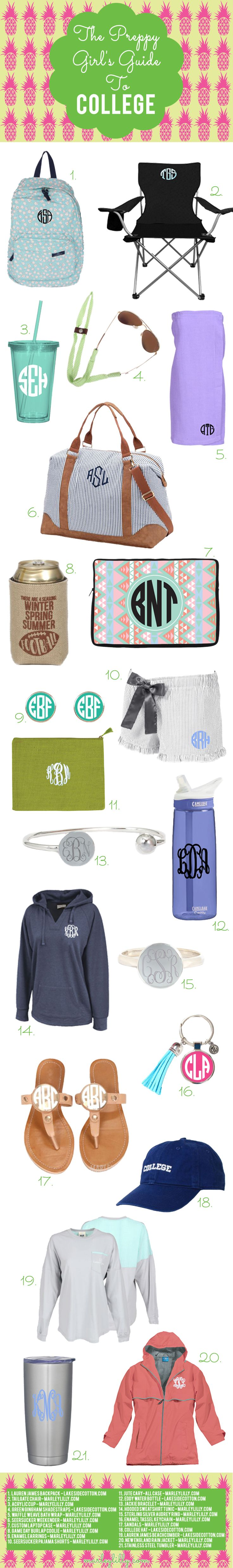 Monogrammed school essentials.
