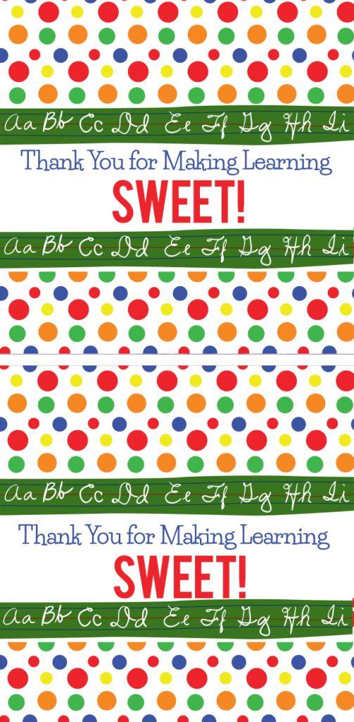 Free Printable Teacher Appreciation Candy Wrapper
