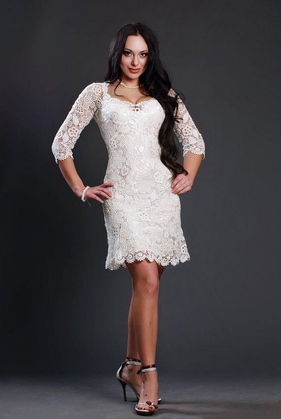 Wedding crochet dress by Lumirelle on Etsy
