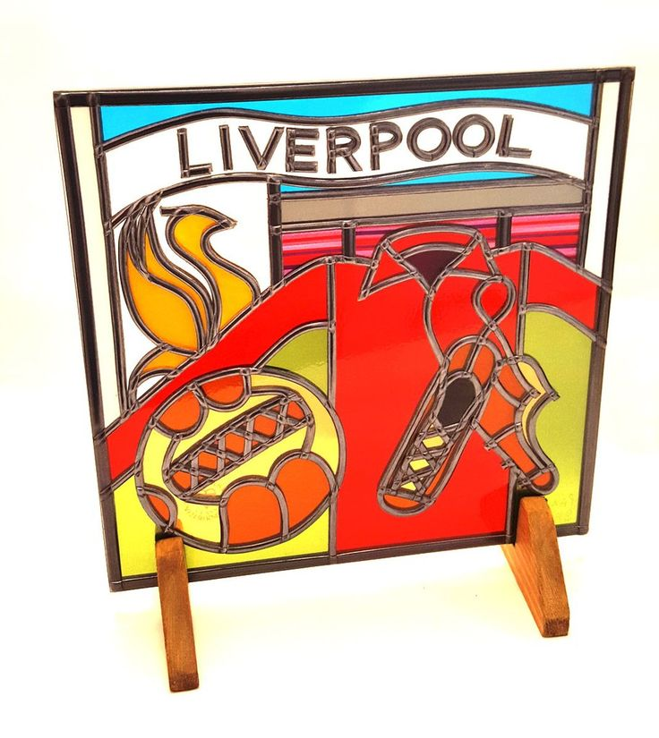 Liverpool Football Glass Gift