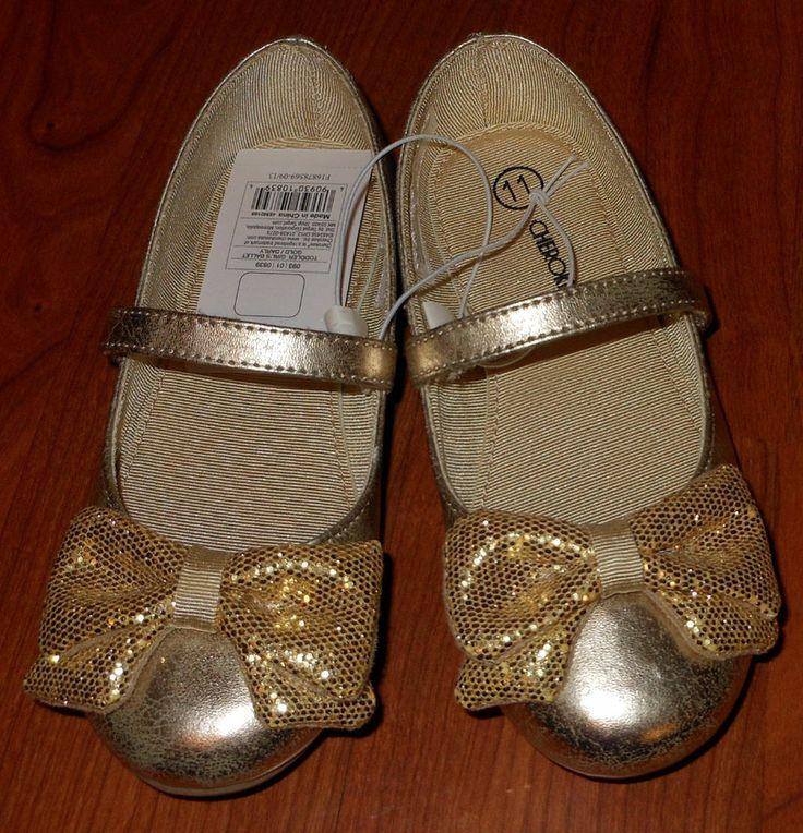 Cherokee Toddler Girl Size 8 Gold Dress Shoes- Target ...