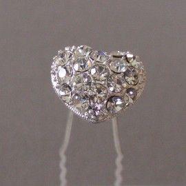 epingle cheveux coeur epingles cheveux accessoires de mariage eclats de cristal - Epingle Cheveux Mariage