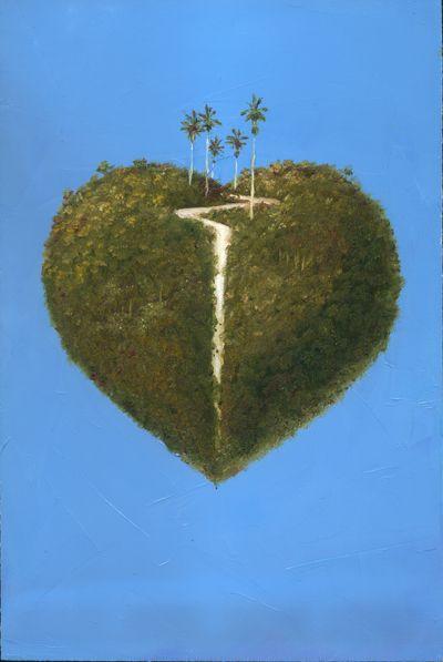 Corazón Oleo sobre madera