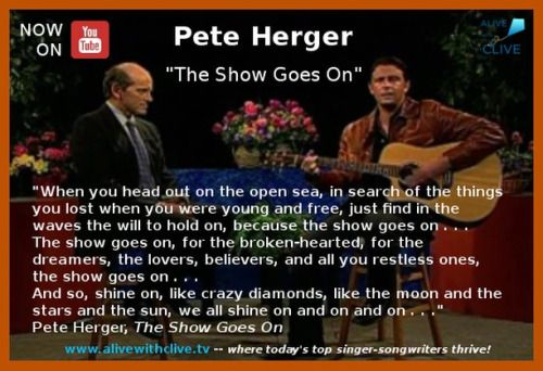 """With a beat that is likely to remind you of songs by @johnmellencampofficial, """"The Show Goes On"""" by @peteherger will inspire you to endure whatever adversity you may be encountering so that you can experience the joy that is awaiting you on the other side of it."""
