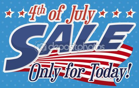 Banner with Amazing Independence Day Offers with Flag and Stars