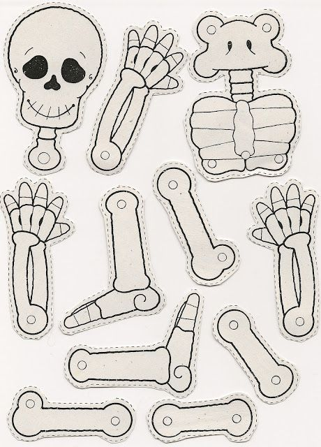 Skeleton craft for kids                                                                                                                                                                                 More