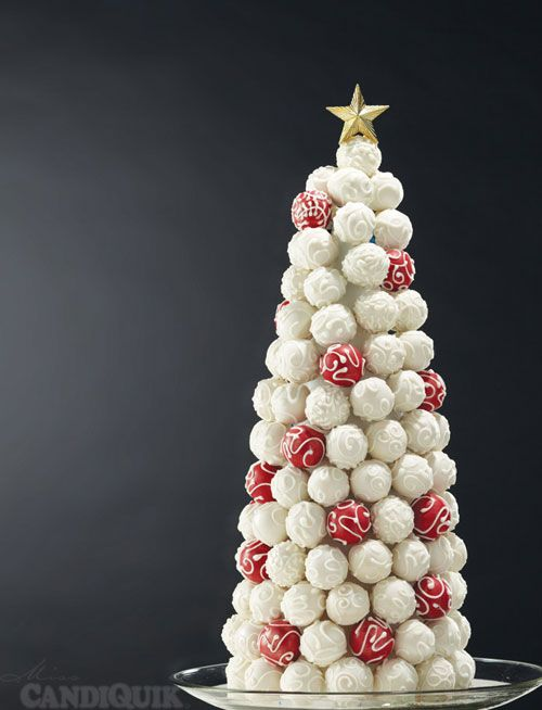 Cake Bite Christmas Tree - made completely out of cake bites! By Miss CandiQuik - @candiquik