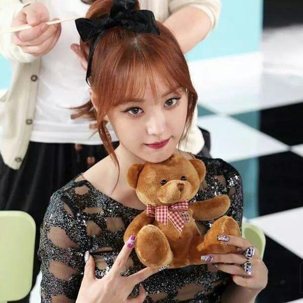 Ji eun with teddy bear!