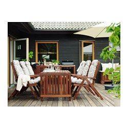 ÄPPLARÖ Drop-leaf table, outdoor, brown brown stained - IKEA