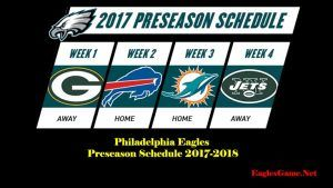 Philadelphia Eagles Games Schedule 2017