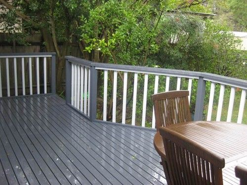 Deck renovated with paint