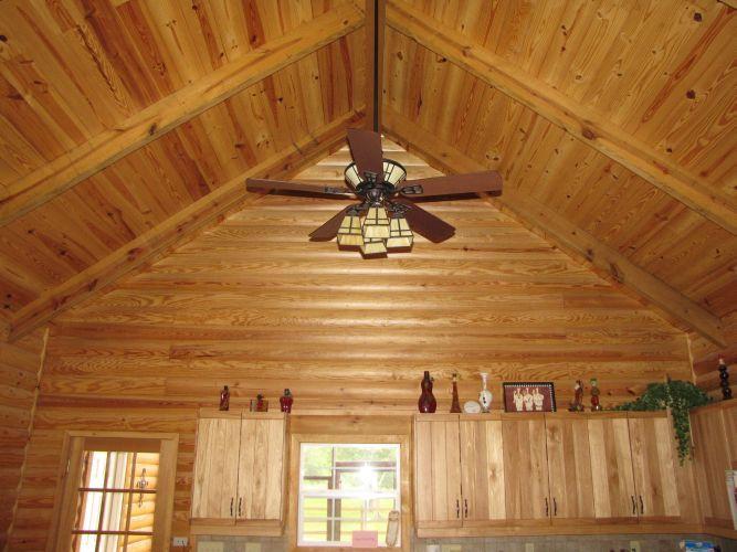 Interior Wall Wood Siding : Log cabin siding interior walls yellow pine
