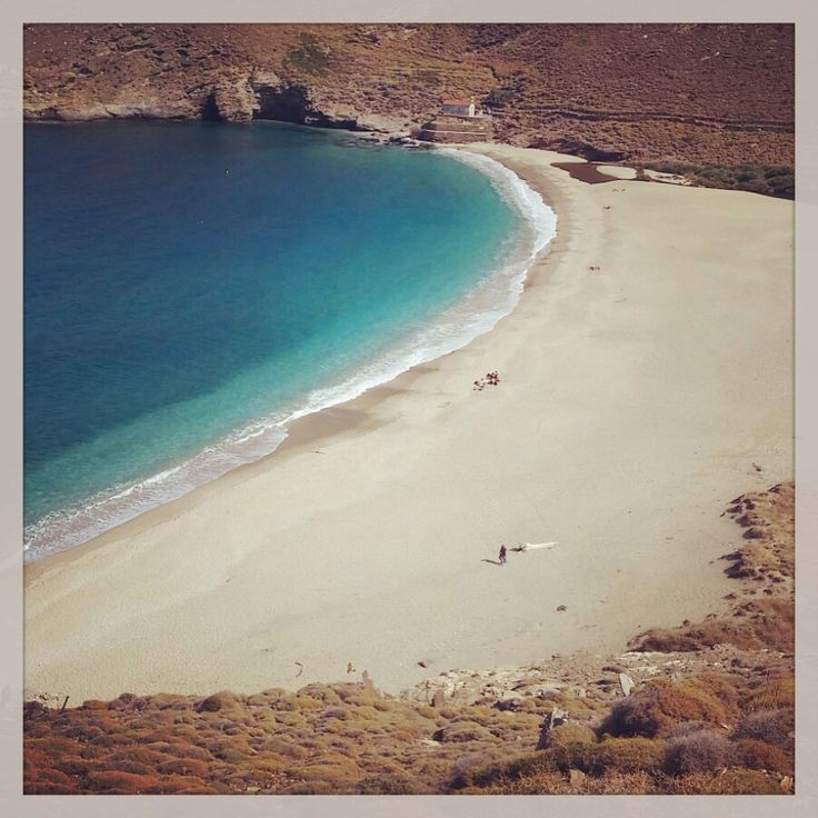 Achla beach on the island of Andros in Greece