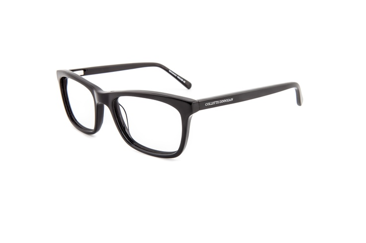 """Decadence - 25634020. Two pairs from only $299, including standard single vision PENTAX lenses.    Square and bold statement frame in dark, solid acetate showing the laser etched Collette Dinnigan brandmark, crisp and clear, on both sides of the arms. Its clean and classic design in a larger shape makes it a potential favourite """"everyday pair"""" for those fashion savvy women of all ages."""