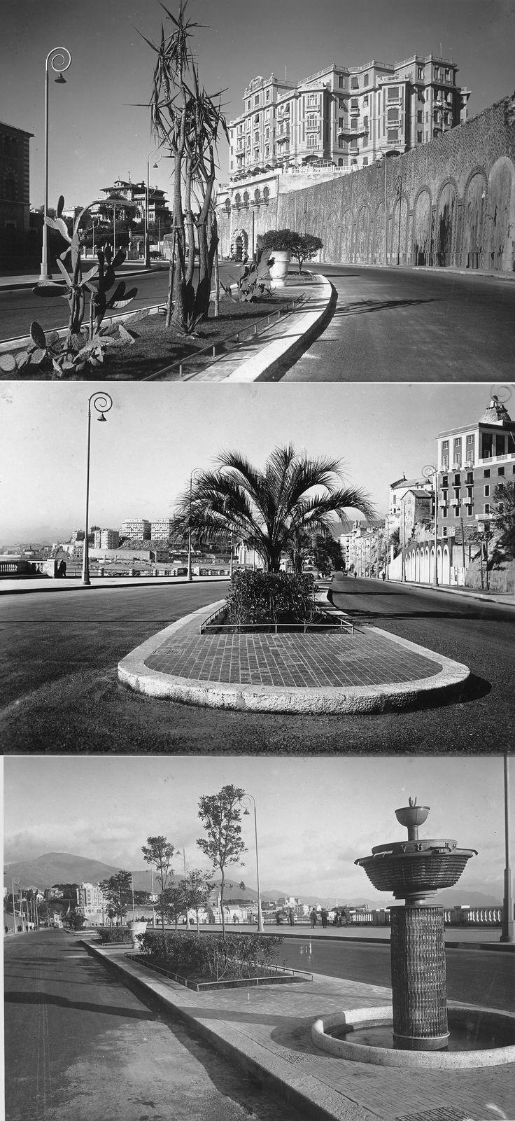 Immagini di corso Italia, Genova, nel 1935 (Photo: Cresta)
