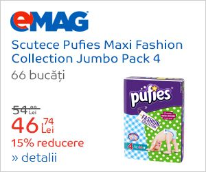 Scutece Pufies Maxi Fashion Collection Jumbo Pack 4, 66 buc - eMAG.ro