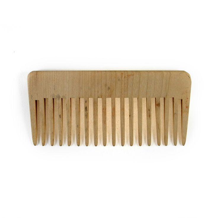 Pettine lineare a denti alti in legno per capelli