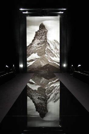 Louis Vuitton show space at Paris Fashion Week A/W 2013: menswear collections