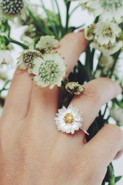 Hold tight. Spring is coming. This daisy ring knows it's true