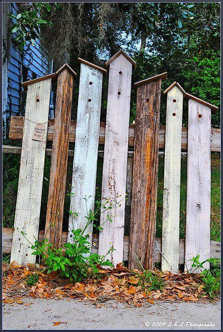 Vogelhaus Umzäunung für den kleinen Abschnitt vo…