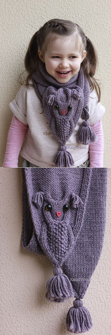 "Can I get that in ""gargoyle"" instead of ""owl?"" Ravelry: Сова Способы шарф картины"