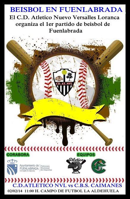 1er partido entre 2 equipos  de beisbol federado en Fuenlabrada