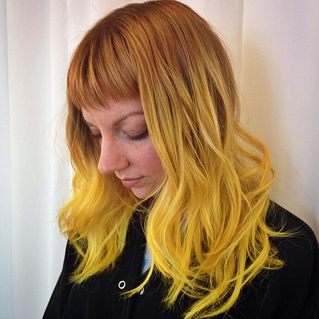 VIBRANT YELLOW - 6 Crazy Yellow Hair Color