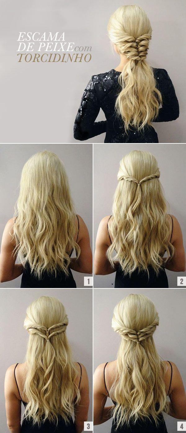 Tutorial of braid fish scale with torcidinho - Wedding Hair Styles
