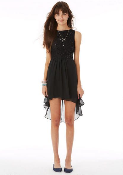 Delia s black feather dress