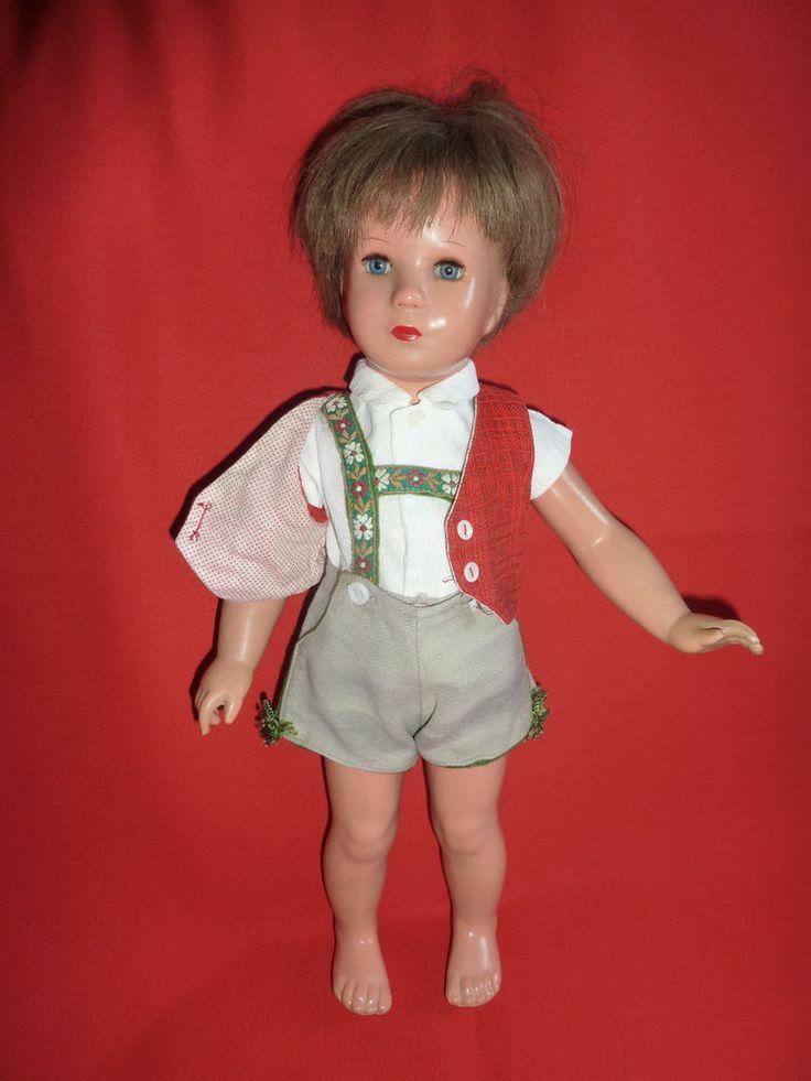 Alte Tortulon Schildkröt Puppe Junge Modell Käthe Kruse T40 mit orig. Kleidung