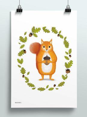 Leśne zwierzęta – obrazki dla dzieci do wydrukowania - MAVELO