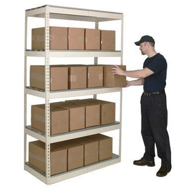 Hallowell DRSC484884-4S Rivetwell, Double Rivet Boltless Shelving with Center Support 48 in. W x 48 in. D x 84 in. H 729 Parchment 4 Levels Starter Unit Decking not included by Hallowell. $125.35. Rivetwell Boltless Shelving is designed to maximize storage space and minimize installation set-up. 48W x 48D x 84H. 4 Levels. 729 Parchment. Starter Unit. Rivetwell Boltless Shelving is designed to maximize storage space and minimize installation set-up time. All components are engine...