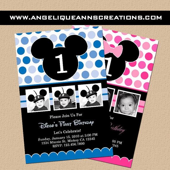 Mickey Mouse Birthday Invitations