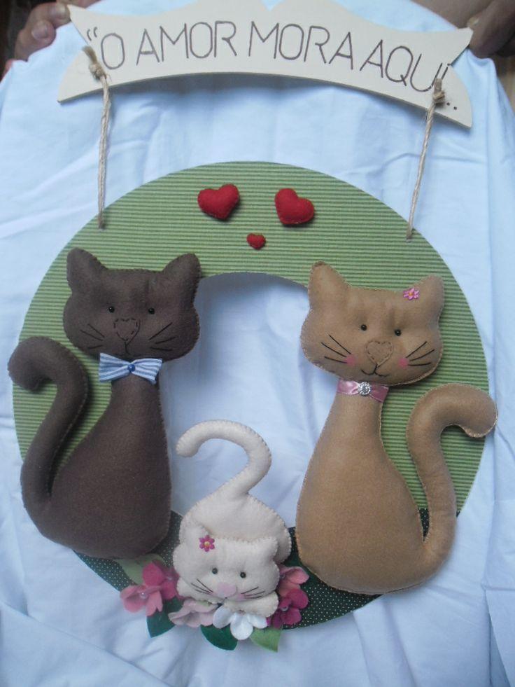 guirlanda familia de gatos