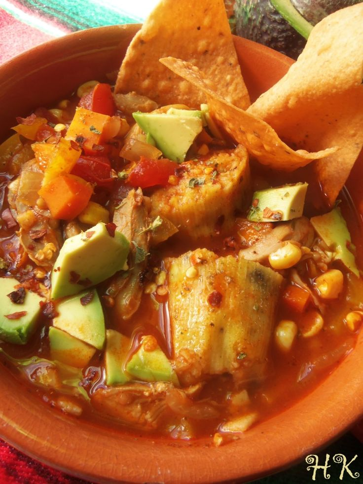 Chicken Tamale Soup - Hispanic Kitchen October 2014