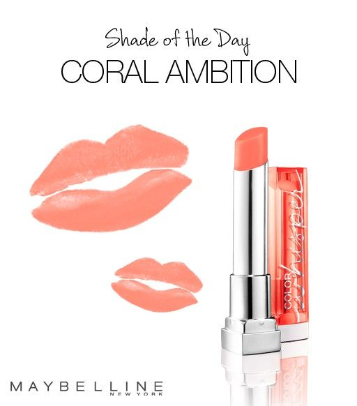 Maybelline Color Whisper in 'Coral Ambition.' Perfect sheer (buildable) coral shade!