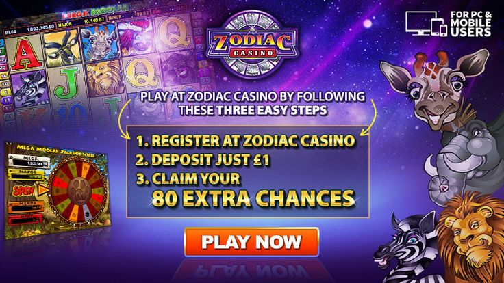 ZODIAC CASINO. 80 chances to become an instant millionaire for €$1 AND Up to €$480 bonus on your next 4 deposits Minimum Deposit €$1 on first purchase, then $€10 on subsequent purchases. All bonuses and promotions for Zodiac Casino are handled by CasinoRewardsGroup the most competitive online loyalty program. ​ ​*offer are not available to UK players