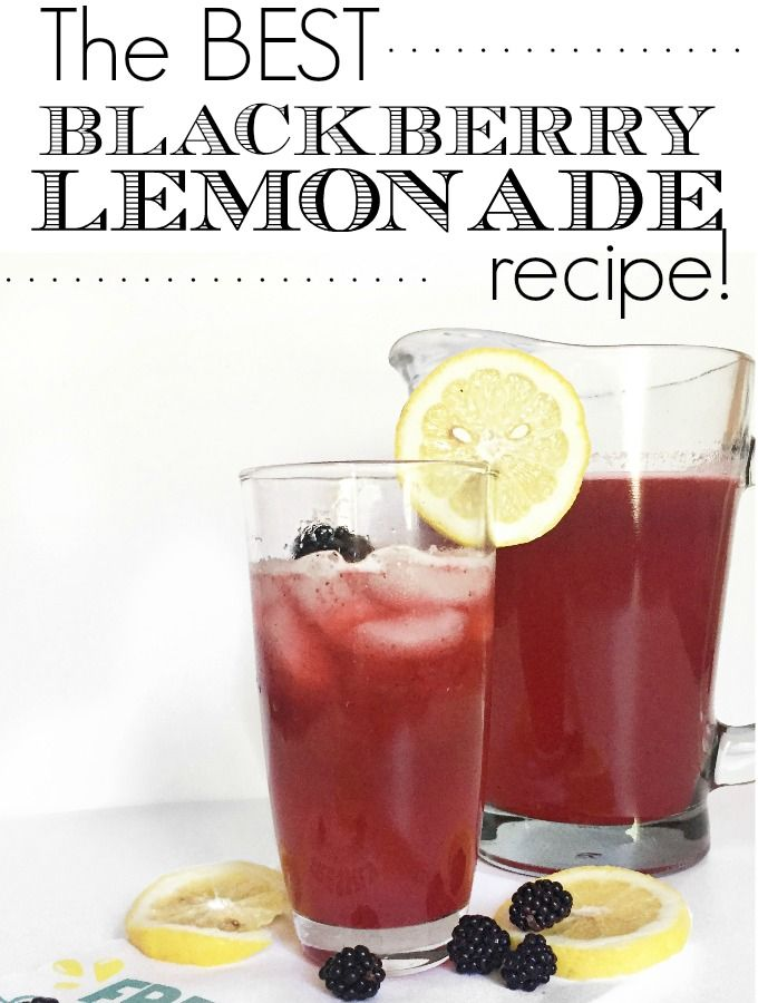 This is the Best Blackberry Lemonade Recipe around and it is so simple.  Only 4 ingredients and no fuss.  My kids love this stuff!