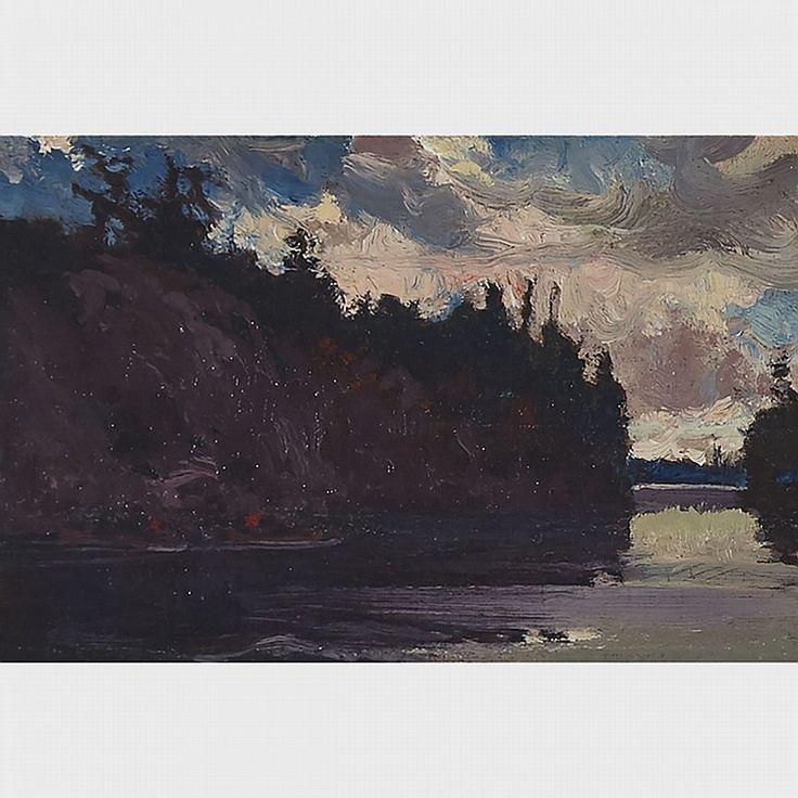J.E.H. MacDonald - Georgian Bay 4 x 6 Oil on panel (1914-15)