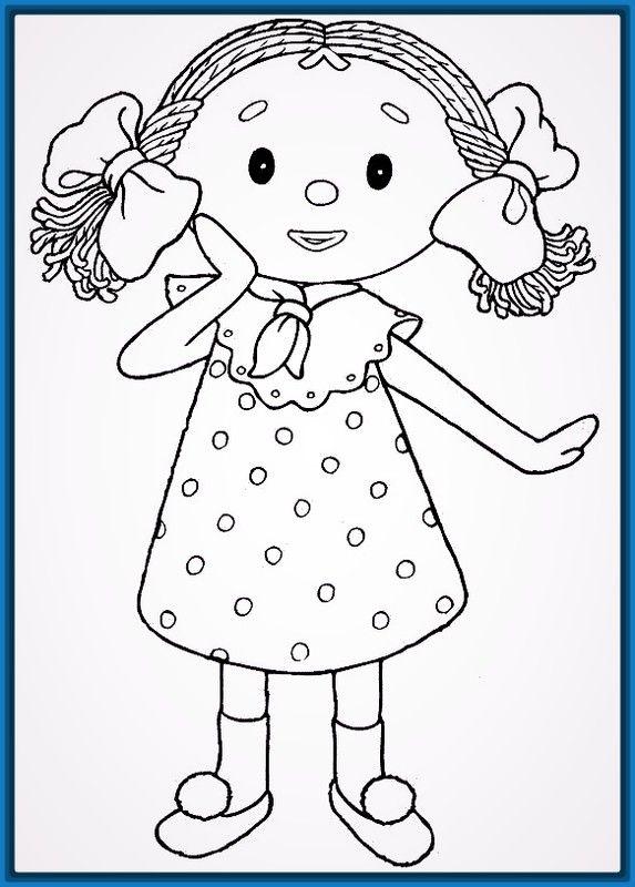 Dibujos para colorear niña 2 años | Dibujos para niños ...