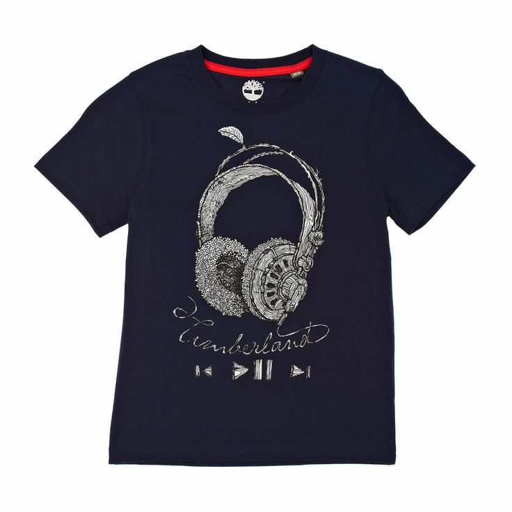 Timberland Headphones T-shirt - Navy | Free UK Delivery and Returns